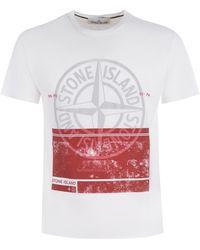 Stone Island T-shirt Stone lsland - Bianco