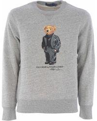 """Polo Ralph Lauren - Felpa """"Preppy Bear"""" - Lyst"""
