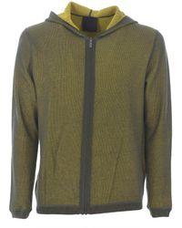 "Rrd Cardigan reversibile ""revers cotton hood zip"" - Verde"