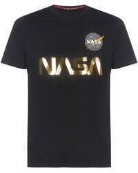 "Alpha Industries T-shirt ""Nasa Reflective"" - Nero"