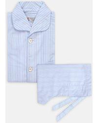 Turnbull & Asser - Blue And Green Assorted Stripe Cotton Pyjama Set - Lyst