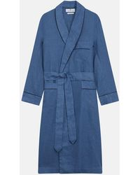 Turnbull & Asser - Teal Linen Piped Gown - Lyst