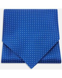 Turnbull & Asser - Royal Blue And White Small Spot Silk Ascot Tie - Lyst