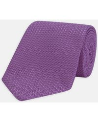 Turnbull & Asser - Purple Grenadine Silk Tie - Lyst