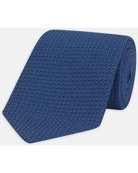 Turnbull & Asser - Blue Grenadine Silk Tie - Lyst