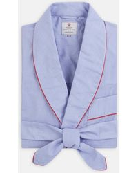 Turnbull & Asser Blue Piped End On End Dressing Gown