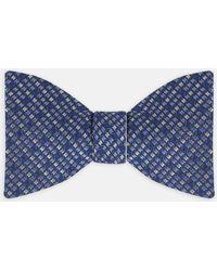 Turnbull & Asser - Skylight Navy And White Silk Bow Tie - Lyst