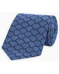 NWT $250 CESARE ATTOLINI Silk Tie Navy Blue-Red-Dark Green Paisley Print