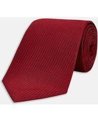 Turnbull & Asser - Burgundy Lace Silk Tie - Lyst