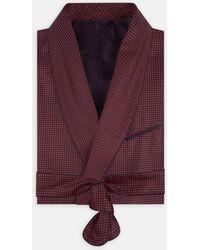 Turnbull & Asser - Burgundy Piped Silk Spot Gown - Lyst