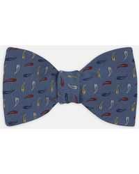 Turnbull & Asser - Blue, Red And Yellow Needle Silk Bow Tie - Lyst