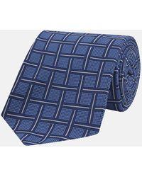 Turnbull & Asser Blue Skyscraper Silk Tie