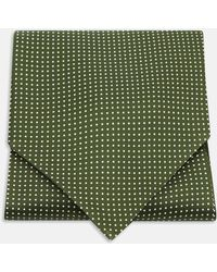 Turnbull & Asser - Olive And White Mini Spot Silk Ascot Tie - Lyst