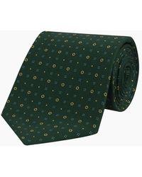 Turnbull & Asser - Green Cross Dots Printed Silk Tie - Lyst