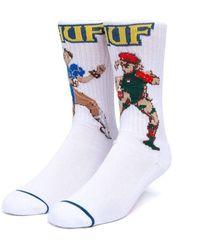 Huf X Street Fighter Chum-li And Cammy Socks - Multicolour