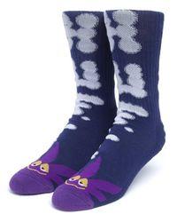 Huf N Puff Buddy Socks - Blue