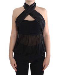 Exte Neck Wrap Top Black Sig30856