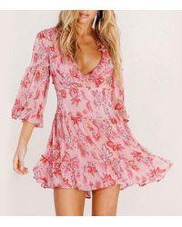 XXVI LONDON Floral Ruffle Pink Mini Dress
