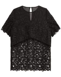 Three Floor Delores Black Lace Top