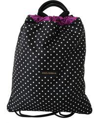 Dolce & Gabbana Polka-dot Drawstring Bag - Black
