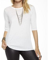 Chaser - Cotton T-shirt With Scoop Back - Lyst