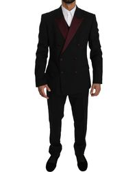 Dolce & Gabbana Black Double Breasted 3 Piece Martini Suit