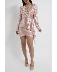 XXVI LONDON Women's Pink Bodycon Cocktail Dress