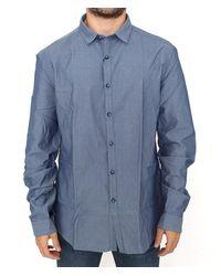 CoSTUME NATIONAL Blue Cotton Dress Shirt