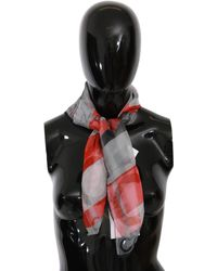 CoSTUME NATIONAL Multicolour Silk Foulard Wrap Scarf