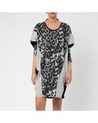 Religion Leopard Print Crown Dress - Black