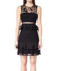 Three Floor - Brooklyn Frill Mini Dress - Lyst