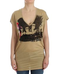 CoSTUME NATIONAL Motive Print T-shirt Beige Sig12528 - Natural