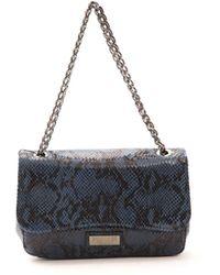 Pompei Donatella Blu Navy Leather Crossbody Bag - Blue