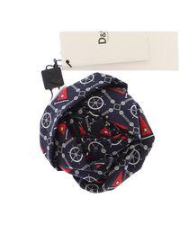 Dolce & Gabbana Marine Rose Silk Brooch Blue Ddb10011
