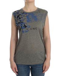 CoSTUME NATIONAL Print Sleeveless T-shirt Grey Sig12531