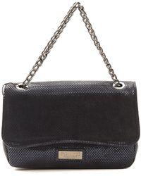 Pompei Donatella Blu Navy Crossbody Bag - Black