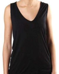 Religion Plead Wrap Vest Top - Black