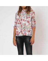 Religion Ethereal Floral Long Sleeve Blouse - White