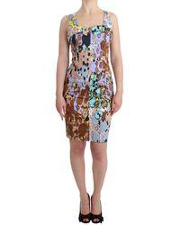 Roccobarocco Multicolour Printed Pencil Dress