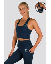 Twotags Vibe X Supportive Cropped Tank - Blue