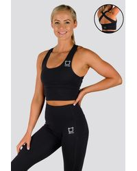 Twotags Vibe X Supportive Cropped Tank - Black