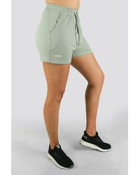 Twotags Bay Highwaisted Summer Lounge Shorts - Green