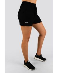 Twotags Bay Highwaisted Summer Lounge Shorts - Black