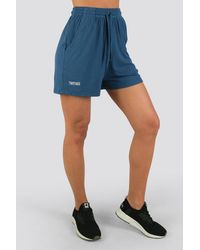 Twotags Bay Highwaisted Summer Lounge Shorts - Blue