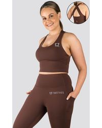 Twotags Vibe X Supportive Cropped Tank - Brown