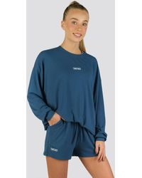 Twotags Bay Oversized Summer Lounge Sweater - Blue