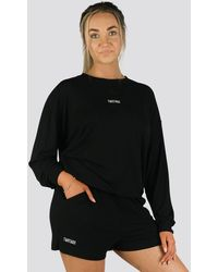 Twotags Bay Oversized Summer Lounge Sweater - Black
