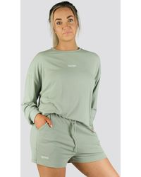 Twotags Bay Oversized Summer Lounge Sweater - Green