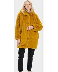 UGG Nori Oversized Coat- Faux Fur - Yellow