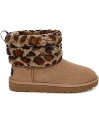 UGG Fluff Mini Quilted Leopard - Brown
